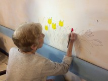 Memory Care Mural – Snug Harbor Botanical Garden